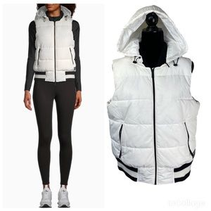 NWT Calvin Klein Performance Puffer Hooded Vest L
